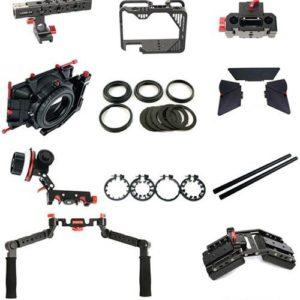 CAME-TV Canon 5D klietka s rukoväťami, opierkou, matteboxom a follow focus