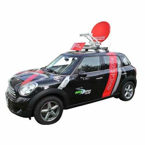 miniCASTER Satellite-Uplink Car Unit
