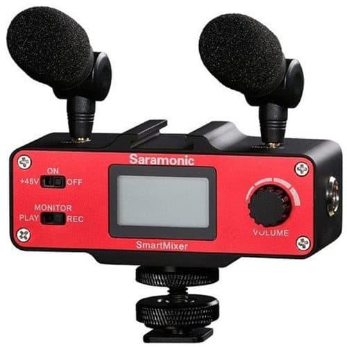 Saramonic SmartMixer handgrip a audiomixer pre iOS/Android