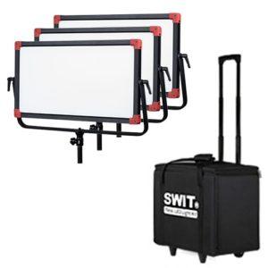 SWIT PL-E90 3-kit so statívmi v transportnom kufri s DMX ovládaním.