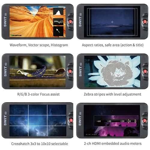 "SWIT CM-55C 5,5"" Full HD 4K-HDMI monitor pre DSLR"
