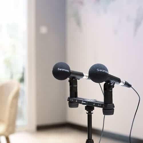 Saramonic SR-M500 set kompaktných kondenzátorových mikrofónov (pár)