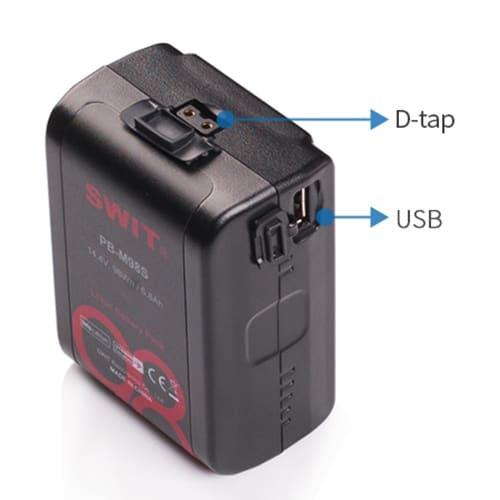 Výhodný set 2x mini V-mount batéria SWIT PB-M98S a duálna cestovná nabíjačka PC-U130B2