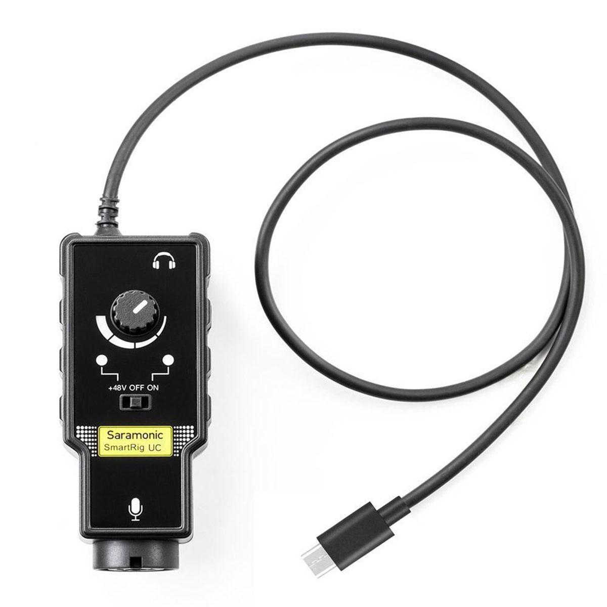 Saramonic SmartRig UC XLR audio a gitarový adaptér pre USB-C zariadenia