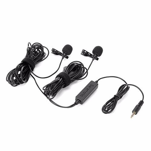 Saramonic LavMicro 2M duálny klopový (lavalierový) mikrofón pre DSLR a smartfóny