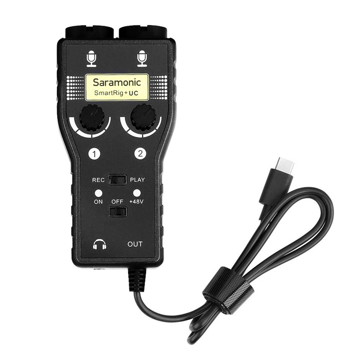 Saramonic SmartRig+ UC dvojkanálový XLR audio a gitarový adaptér pre USB-C zariadenia