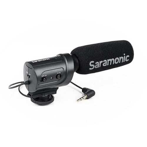 Saramonic SR-M3 smerový dynamický mikrofón s kožušinovou veternou ochranou M3-WS