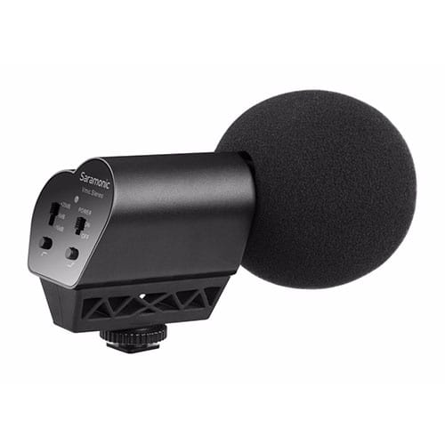 Saramonic Vmic Stereo kondenzátorový stereo mikrofón pre DSLR