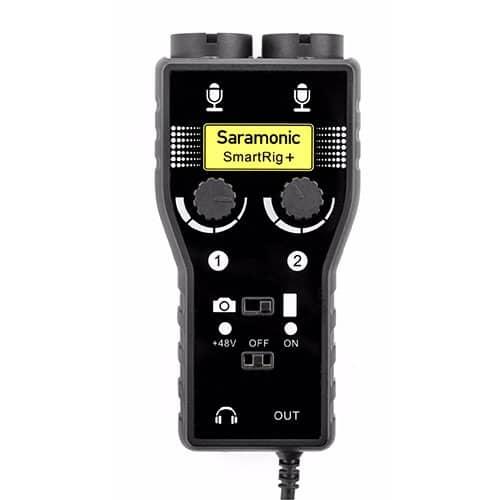 Saramonic SmartRig+ dvojkanálový XLR audio a gitarový adaptér s 3,5mm výstupom