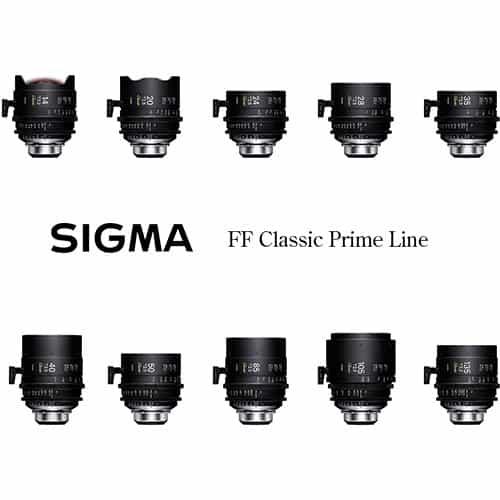 Sigma FF Cine Classic Art Prime set - 14 / 20 / 24 / 28 / 35 / 40 / 50 / 85 / 105 / 135 mm