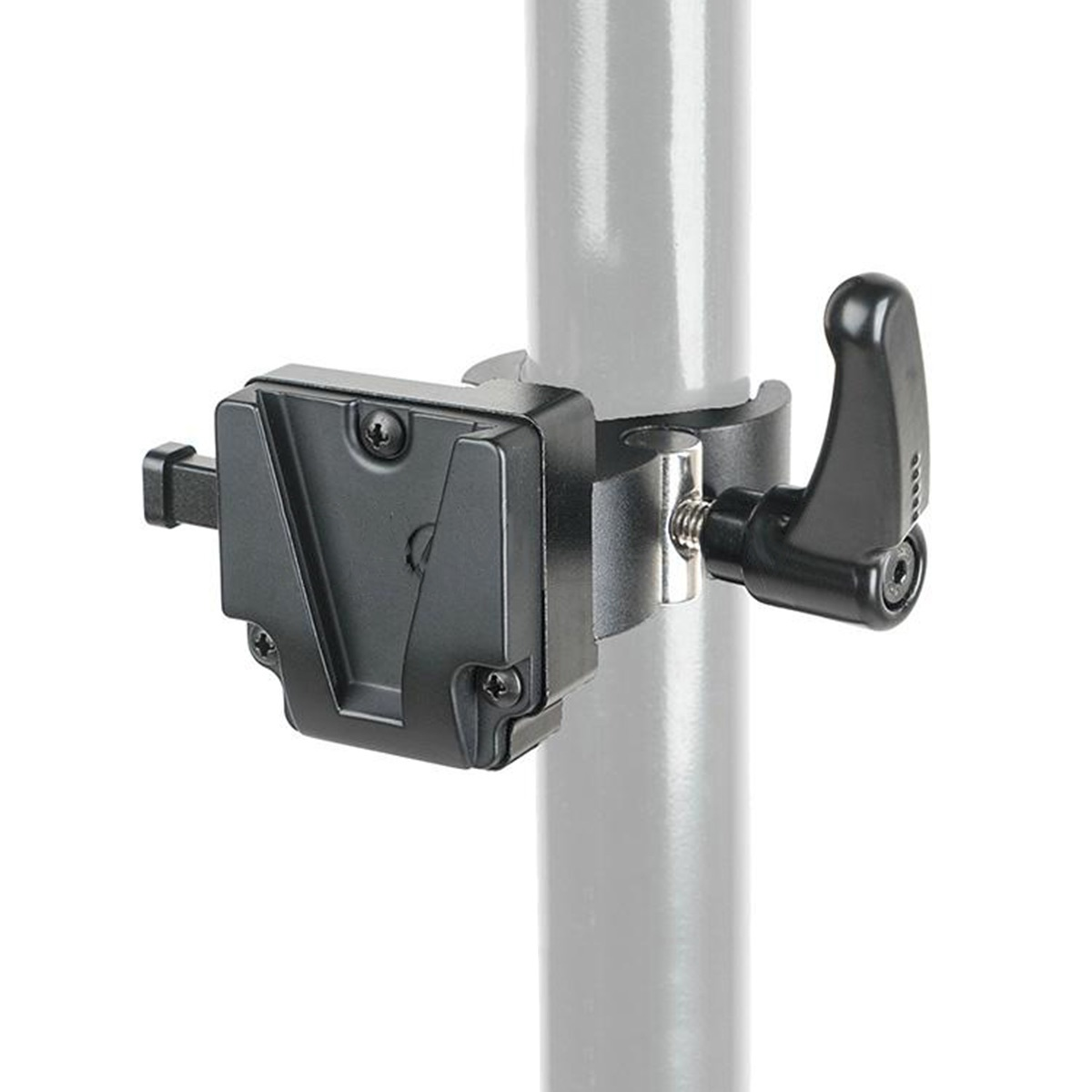 CAME-TV V-Mount Clamp adapter/úchyt pre batérie s V-mount úchytom na tyč