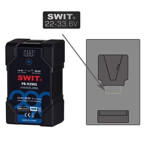 SWIT PB-H196S Bi-voltage 14,4V / 28,8V V-mount batéria pre ARRI ALEXA