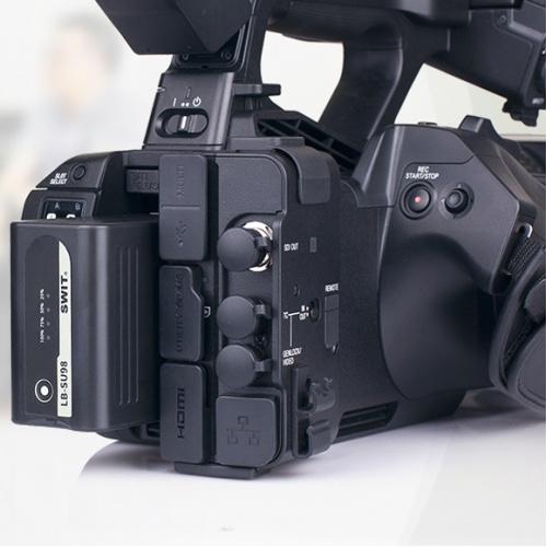 SWIT LB-SU98 batéria typ Sony BP-U pre kamery FX9 / Z280 / Z190 / FS7 s indikáciou a D-TAP
