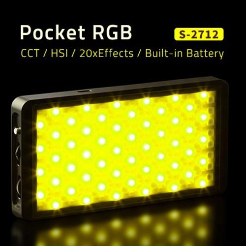 SWIT S-2712 12W Pocket RGBW SMD LED svetlo s efektami a zabudovanou batériou