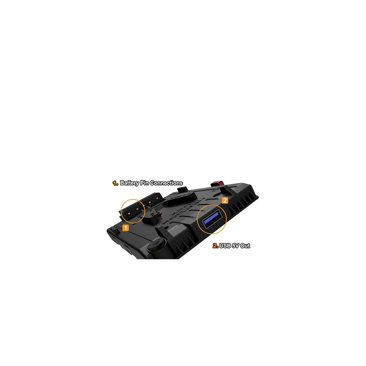 Hedbox UNIX-7V2 V-mount napájací úchyt s otvoreným káblom 7,2V (regulovaný)