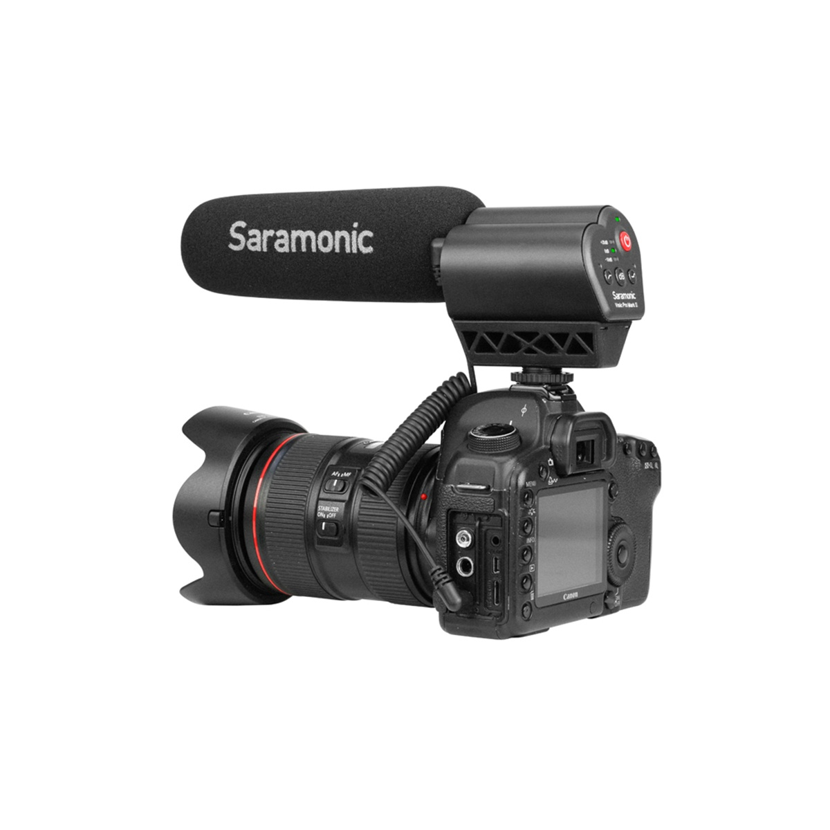 Saramonic Vmic Pro Mark II kondenzátorový shotgun mikrofón pre DSLR