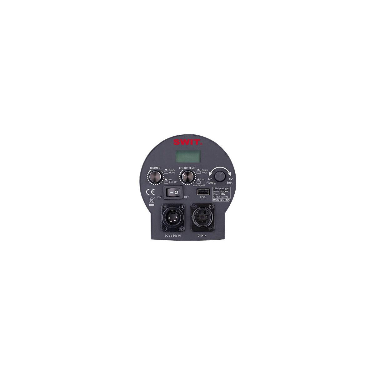 SWIT FL-C60D 60W fresnelový LED reflektor s vysokým jasom Kit 3ks v taške